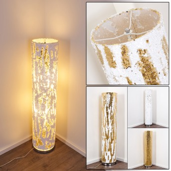 Sjaelland Stehlampe Gold, 2-flammig