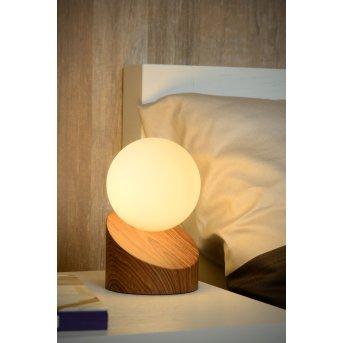 Lucide LEN Tischlampe Holz dunkel, 1-flammig