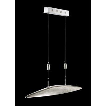 Fischer Leuchten Shine Pendelleuchte LED Nickel-Matt, 5-flammig
