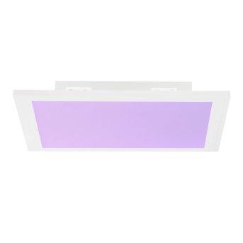 Brilliant Abie Deckenpaneel LED Weiß, 1-flammig, Fernbedienung, Farbwechsler