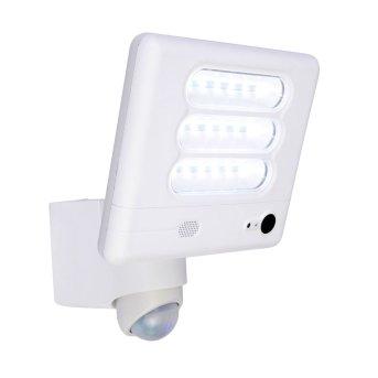 Lutec ESA Kameraleuchte LED Weiß, 1-flammig, Bewegungsmelder