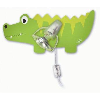 Waldi Wandleuchte Krokodil Grün, 1-flammig