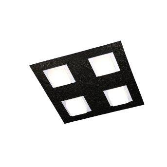 Grossmann BASIC Deckenleuchte LED Schwarz, 4-flammig