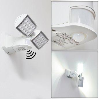 Loit Aussenwandleuchte LED Weiß, 2-flammig, Bewegungsmelder