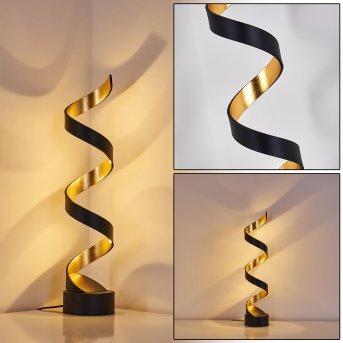 Rezat Tischleuchte LED Schwarz-Gold, 1-flammig