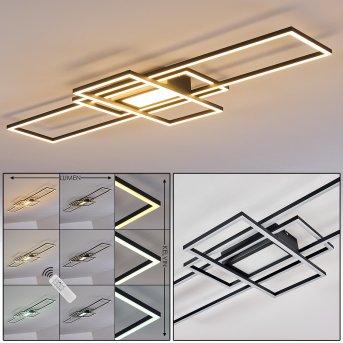 Alsterbro Deckenleuchte LED Schwarz, 1-flammig