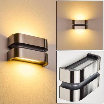 Kolding Außenwandleuchte LED Schwarz, Edelstahl, 1-flammig
