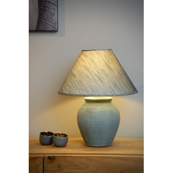 Lucide RAMZI Tischlampe Grau, 1-flammig