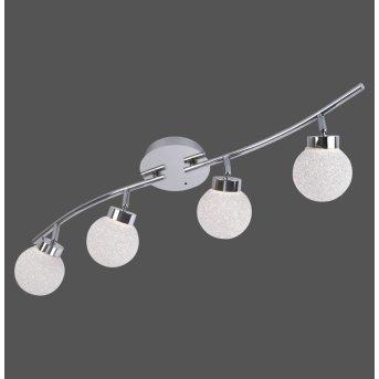 Leuchten Direkt MIKO Deckenleuchte LED Chrom, 4-flammig, Fernbedienung, Farbwechsler