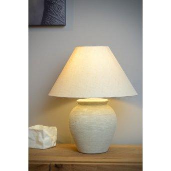 Lucide RAMZI Tischlampe Beige, 1-flammig
