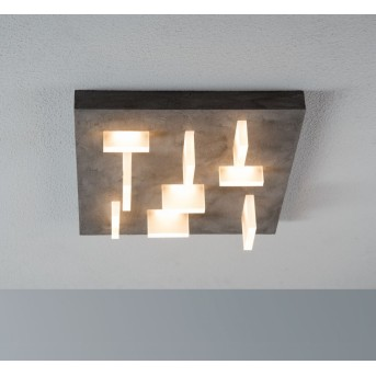 Escale Sharp Deckenleuchte LED Grau, 9-flammig