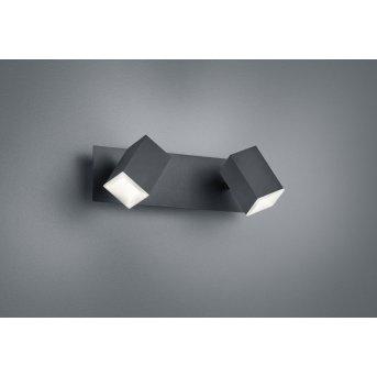 Trio Leuchten LAGOS Wandleuchte LED Schwarz, 2-flammig