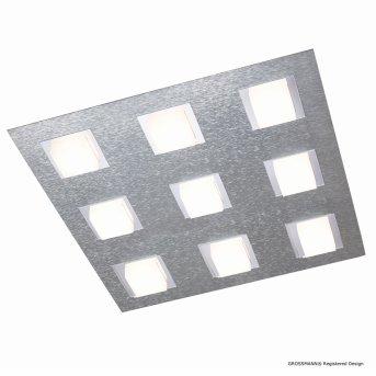 Grossmann BASIC Deckenleuchte LED Aluminium, 9-flammig
