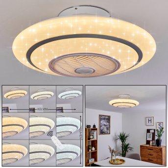 Sitges Deckenventilator LED Weiß, 1-flammig, Fernbedienung