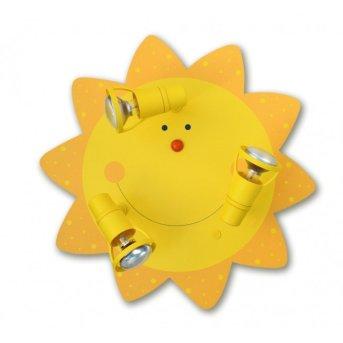 Waldi Deckenleuchte Sonne Gelb, 3-flammig