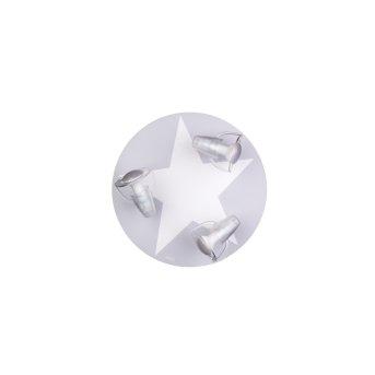 Waldi Stardel Deckenleuchte Grau, Weiß, 3-flammig