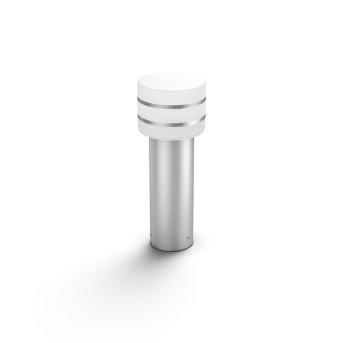 Philips Hue White Tuar Sockelleuchte LED Silber, Edelstahl, 1-flammig