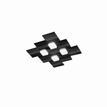 Grossmann CREO Deckenleuchte LED Schwarz, 4-flammig