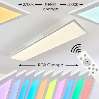 Antria LED Panel Weiß, 1-flammig, Fernbedienung, Farbwechsler