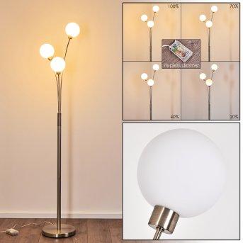 Bernado Stehlampe Nickel-Matt, 3-flammig