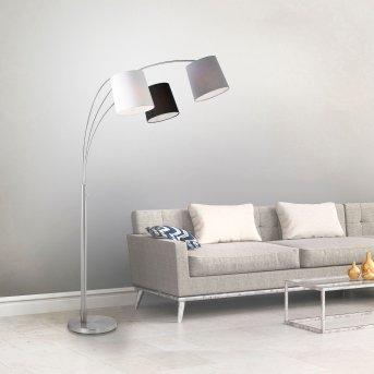 Leuchten Direkt MELVIN Stehleuchte Weiß, Grau, Schwarz, 3-flammig