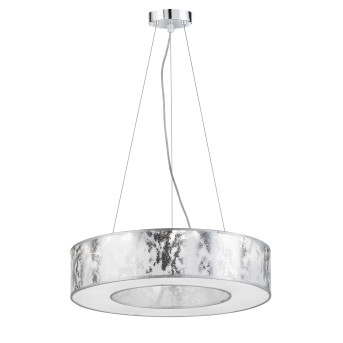 Wofi LEIKA Pendelleuchte LED Silber, 1-flammig