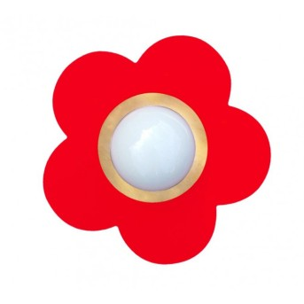 Waldi Deckenleuchte Fleur petit Rot, 1-flammig