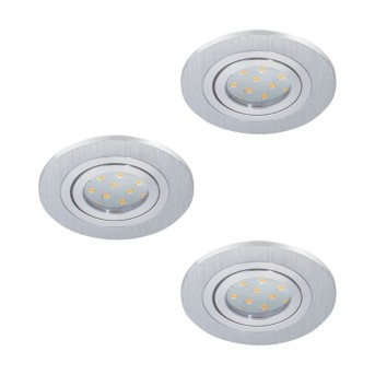 Eglo AREITIO Einbauleuchte LED Aluminium, 3-flammig