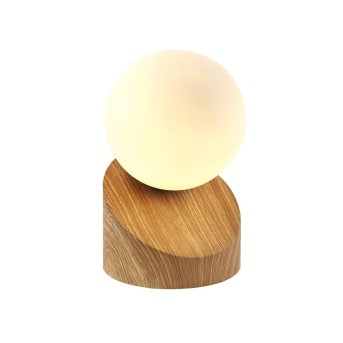 Nino Leuchten ALISA Tischleuchte LED Holz hell, 1-flammig